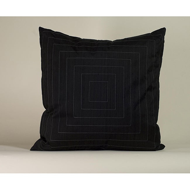 'Pyramid' Black 20x20-inch Decorative Pillow