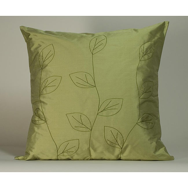 'Leaves' Sage 20x20-inch Decorative Pillow