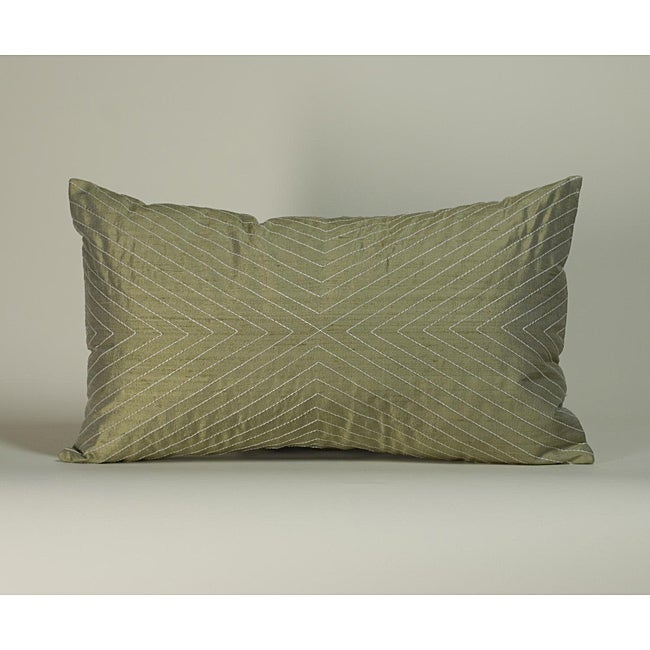 'V' Taupe 12X20-inch Decorative Pillow