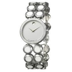 Movado Women's 'Ono Moda' Stainless Steel And Ceramic Diamond Watch