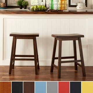Counter Height Vs Bar Stool : ... HOME Salvador Saddle Back 24-inch Counter Height Stool (Set of 2