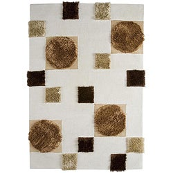 Hand-tufted Anat Natural Wool Rug (6'6 x 9'9)