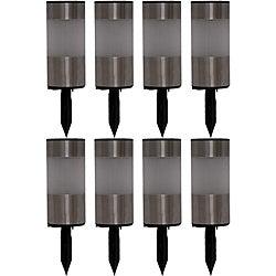 Tricod Stainless Steel Tube Solar Light (Set of 8)