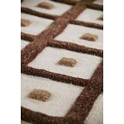 Hand-woven Fram Brown Wool Rug (6'6 x 9'9)