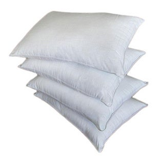 Dobby-weave Cotton/Polyester Down Alternative Pillows (Set of 4)