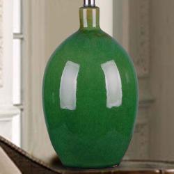 1-light Green Ceramic Table Lamp