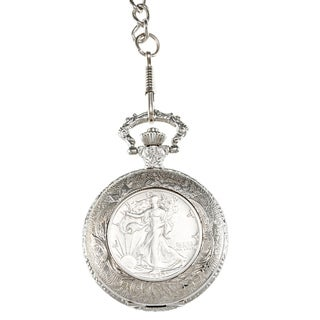 American Coin Treasures Silver Walking Liberty Half-dollar Pocket Watch