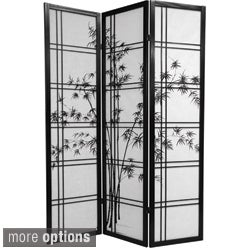 Wooden Bamboo Tree Shoji Screen (China)