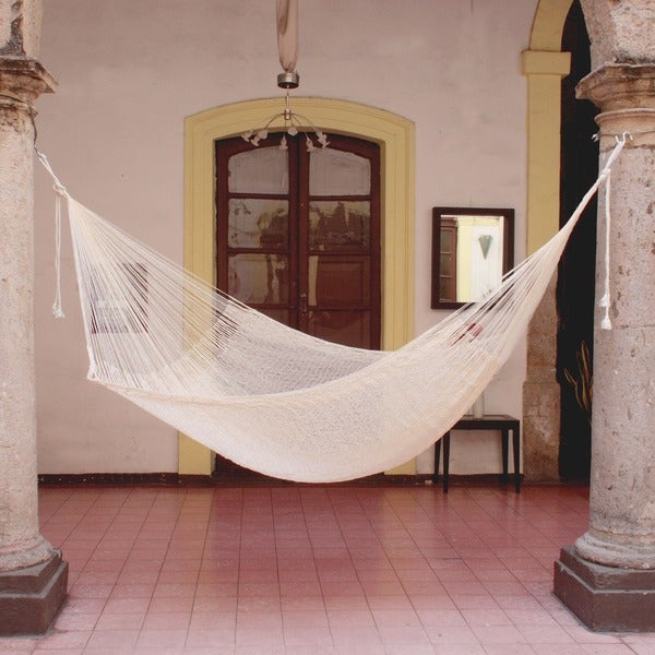 Handmade Cotton 'Natural Comfort' Hammock (Mexico)