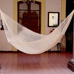 Large Deluxe Cotton 'Classic White' Hammock (Mexico)