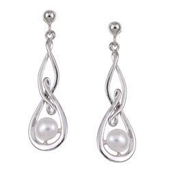 Kabella Sterling Silver Freshwater Pearl Earrings (5-5.5 mm)