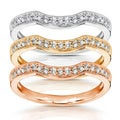 14k Gold 1/6ct TDW Diamond Curved Wedding Band