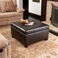 Christopher Knight Home Richmond Espresso Bonded Leather Storage Ottoman