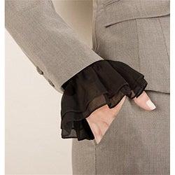 Black Slip-on Chiffon Couture Cuff