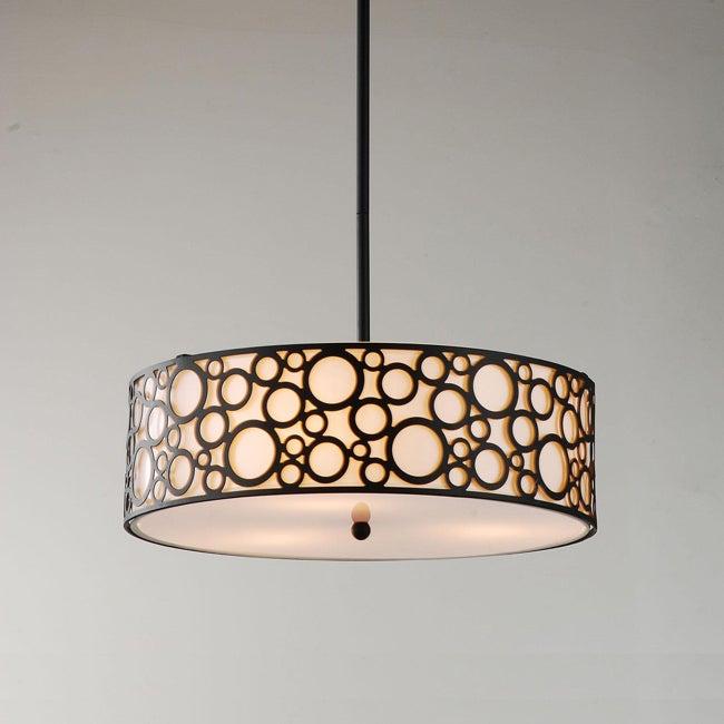Indoor 3-light Black Pendant Chandelier