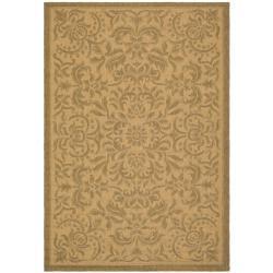 Safavieh Indoor/Outdoor Geometric Natural/Gold Rug (9' x 12')