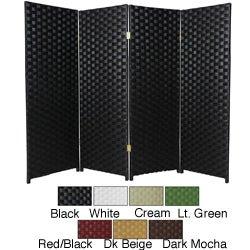 Woven Fiber 4-foot 6-panel Room Divider (China)
