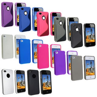 INSTEN TPU Rubber Skin Phone Case Cover for Apple iPhone 4