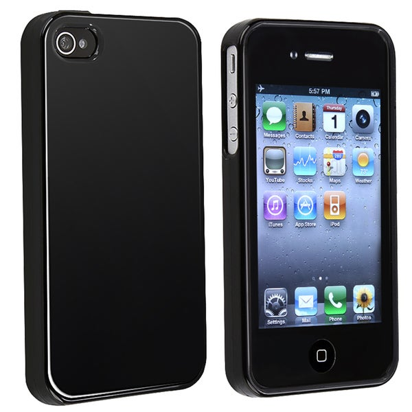 INSTEN TPU Shock-absorbent Shatterproof Rubber Skin Phone Case Cover for Apple iPhone 4
