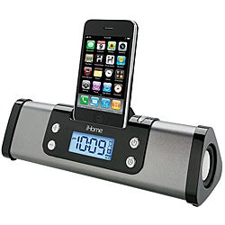 iHome Blue iP16 Portable Stereo Alarm Clock With iPod/iPhone Dock