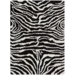 Nourison Splendor Hand-tufted Black/White Rug (2'3 x 3'9)