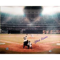 Steiner Sports Autographed Hank Aaron Photograph
