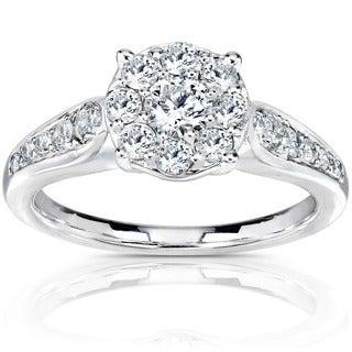 Annello 14k Gold 3/4ct TDW Diamond Engagement Ring (H-I, I1-I2)