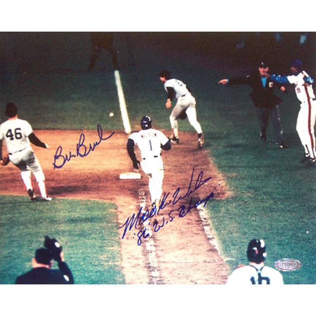 Steiner Sports Autographed Mookie Wilson/ Bill Buckner Dual Signed 8x10 Photograph