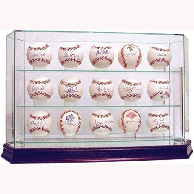 Steiner Sports Glass 15-ball Baseball Case