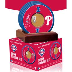 Steiner Sports Philadelphia Phillies Coasters w/ Game Used Dirt (Set of 4)