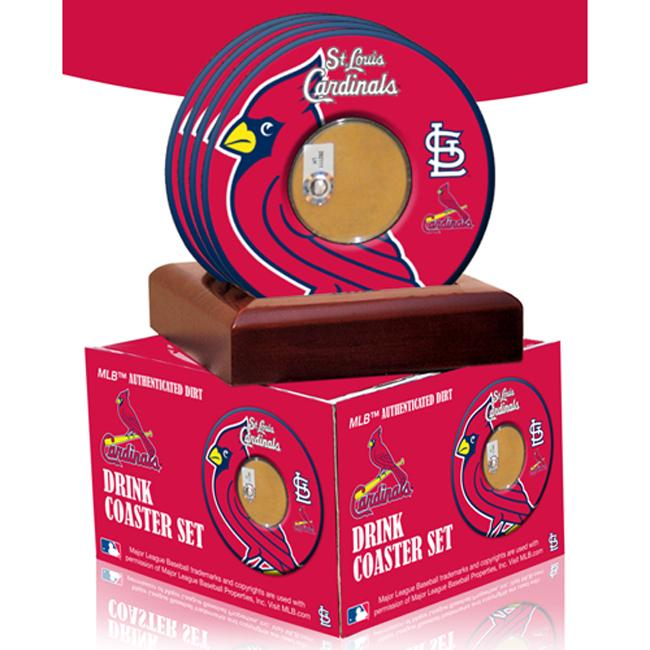 Steiner Sports St. Louis Cardinals Coasters w/ Game Used Dirt (Set of 4)