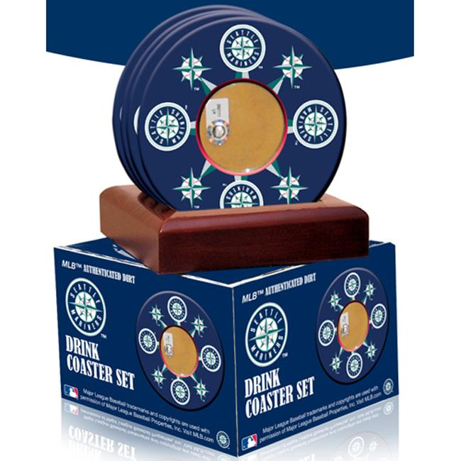 Steiner Sports Seattle Mariners Coasters w/ Game Field Dirt (Set of 4)