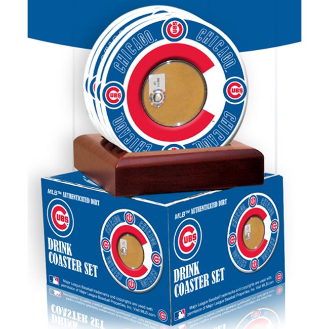 Steiner Sports Chicago Cubs Coasters w/ Game Field Dirt (Set of 4)