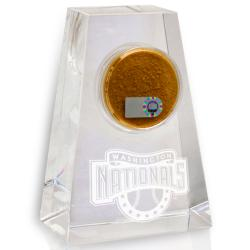 Washington Nationals Tapered Crystal Paperweight w/ Game Field Dirt