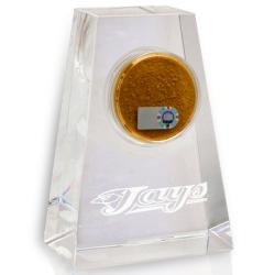 Toronto Blue Jays Tapered Crystal Paperweight w/ Game Field Dirt
