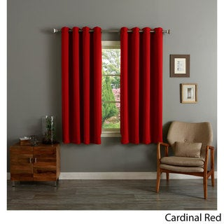 Grommet Top Thermal Insulated Blackout 64-inch Curtain Panel Pair