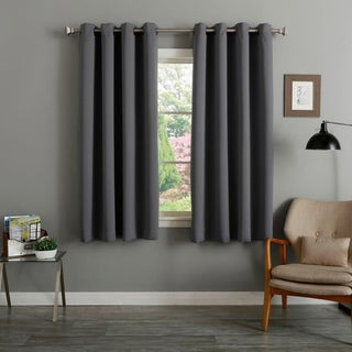 Lights Out Grommet Top Thermal Insulated Blackout 64-inch Curtain Panel Pair