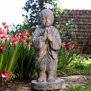 Stone Standing Buddha Monk Sculpture (Indonesia)