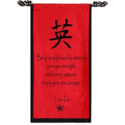 Cotton Courage Symbol and Lao-Tzu Quote Scroll (Indonesia)