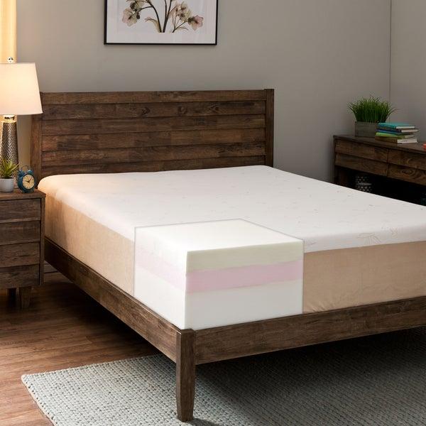 Comfort Dreams Lumbar Back Support 12-inch King-size Memory Foam Mattress