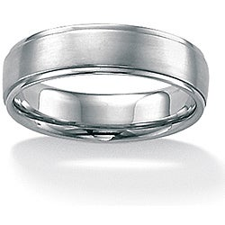 PalmBeach Stainless Steel Men's Comfort Fit Band (6 mm)