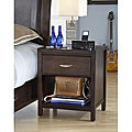 Tapered Leg 1-drawer Nightstand with Half Moon Pull