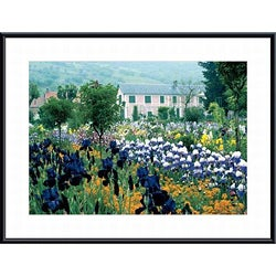 Monet 'Irises, Claude Monet's Country Estate' Art Print