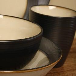 Sango 40-piece Bistro Cream Stoneware Dinnerware Set