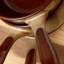 Sango Nova Brown 4-piece Onion Soup Bowl Set