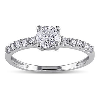 Miadora 14k White Gold 3/4ct TDW Diamond Solitaire Engagement Ring (H-I, I2-I3)