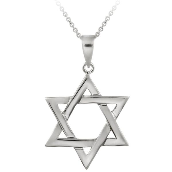 Mondevio Sterling Silver Star of David Necklace