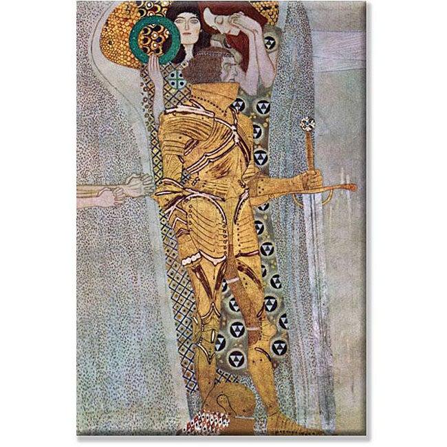 Gustav Klimt 'Beethoven Frieze 2' Canvas Art