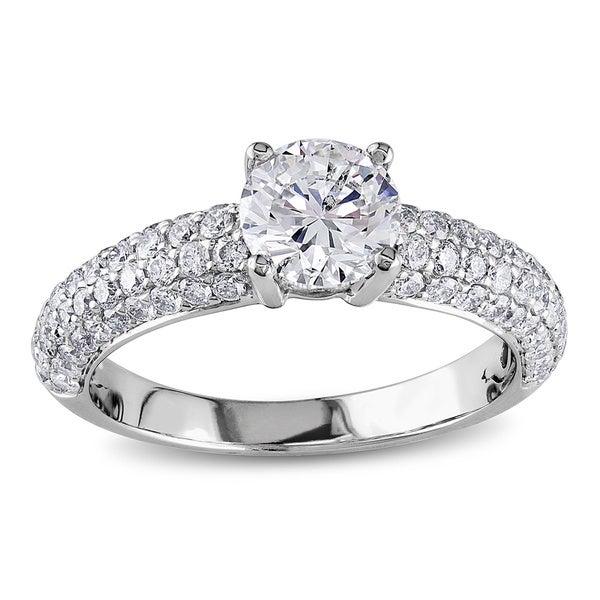 Miadora 18k White Gold 1 3/5ct TDW IGL-certified Diamond Ring (G-H, SI1-SI2)