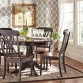 ETHAN HOME Mackenzie 5-piece Country Black Dining Set